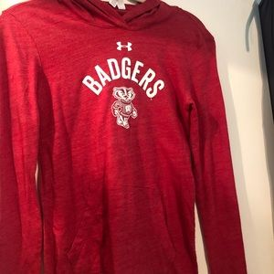 Under Armour Wisconsin Badger Hooded Long Sleeve